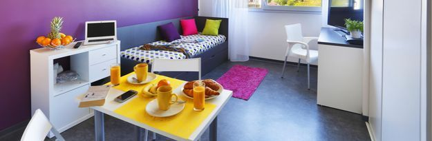 Student residence rental Résidence Caen Beaumois à Caen - Photo 2